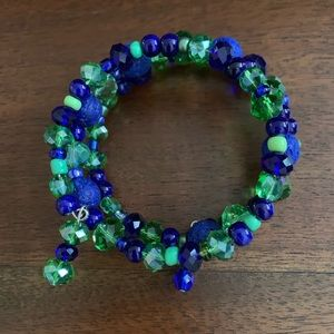 Jewelry - Memory bracelet blue and green